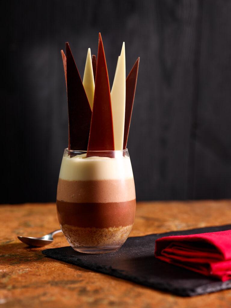 TRIO OF CHOCOLATE CHEESECAKE