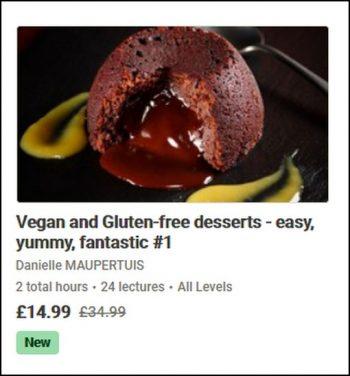 Vegan and gluten free desserts