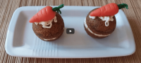 Vegan little carrot cakes made by future little Chefs