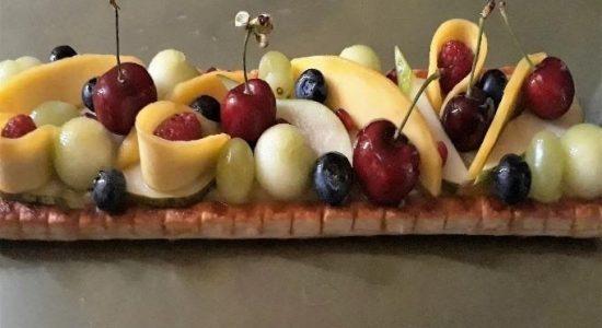 vegan coconut board dessert